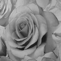 Muriva Madison Rose Glitter Silver 139520 Wallpaper